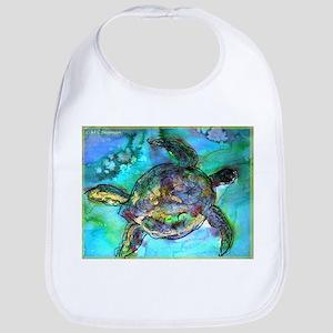 Sea Turtle, Wildlife art! Bib