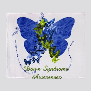 Down Syndrome Awareness Butterfly Throw Blanket