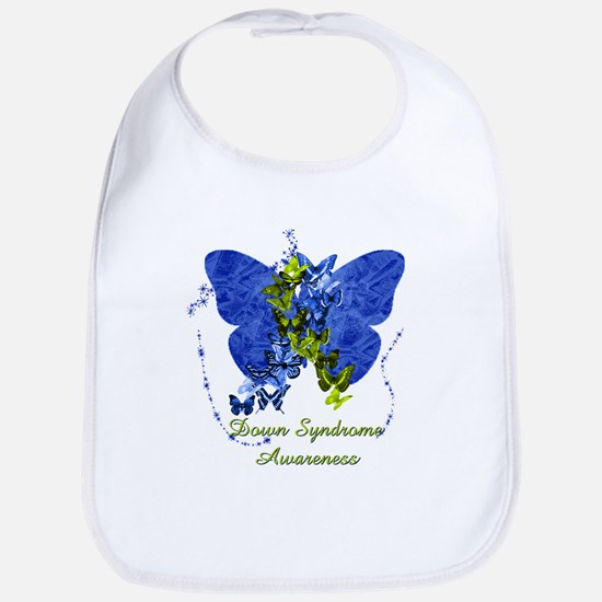 Down Syndrome Awareness Butterfly Bib