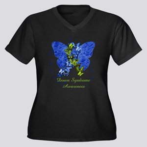 Down Syndrome Awareness Butterfly Plus Size T-Shir