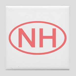 Nh Oval New Hampshire Tile Coaster