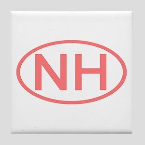 Nh Oval New Hampshire Tile Coaster
