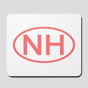 NH Oval - New Hampshire Mousepad
