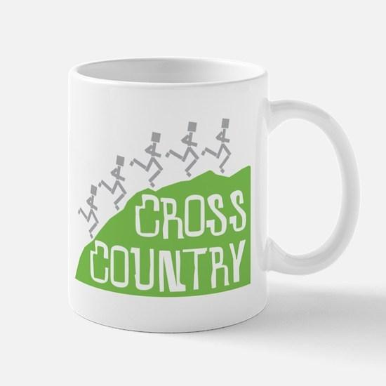 Cross Country Running Hill Mug