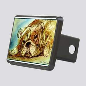 Bulldog! Dog art! Hitch Cover