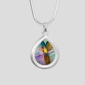 Blue/gold Macaw, parrot art! Necklaces