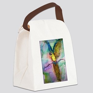 Blue/gold Macaw, parrot art! Canvas Lunch Bag