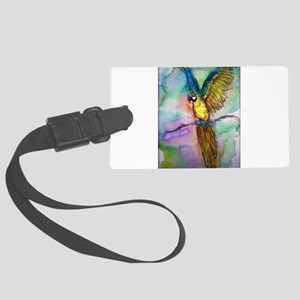 Blue/gold Macaw, parrot art! Luggage Tag