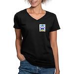 Cataruzza Women's V-Neck Dark T-Shirt