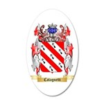 Catagnetti 20x12 Oval Wall Decal
