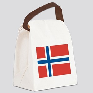 Norwegian Flag Canvas Lunch Bag