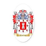 Castling Oval Car Magnet