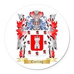 Castling Round Car Magnet