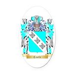 Castle Oval Car Magnet