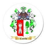 Castillo Round Car Magnet