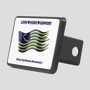 Down Syndrome Support Ribbon - Flag Hitch Cover