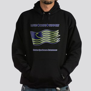 Down Syndrome Support Ribbon - Flag Hoodie