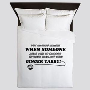 Ginger Tabby cat gifts Queen Duvet