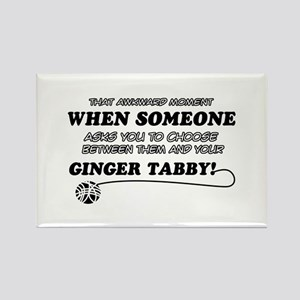 Ginger Tabby cat gifts Rectangle Magnet