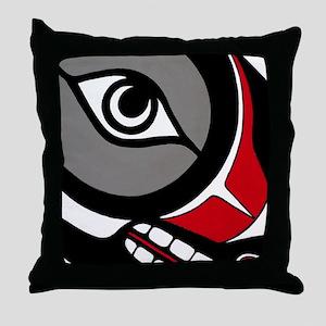 Kushtaka (Bigfoot) Throw Pillow