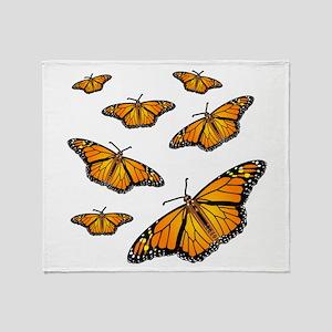 Monarch Butterflies Throw Blanket