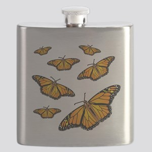Monarch Butterflies Flask