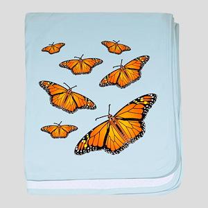 Monarch Butterflies baby blanket