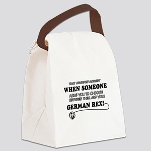 German Rex cat gifts Canvas Lunch Bag