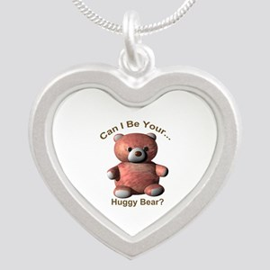Huggy Bear Silver Heart Necklace