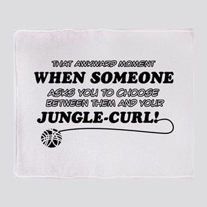 Jungle-Curl cat gifts Throw Blanket