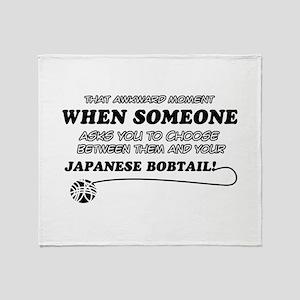 Japanese Bobtail cat gifts Throw Blanket