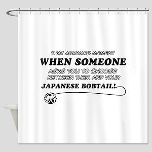 Japanese Bobtail cat gifts Shower Curtain