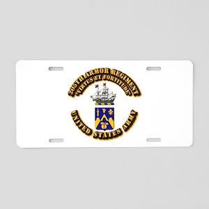 COA - 205th Armor Regiment Aluminum License Plate