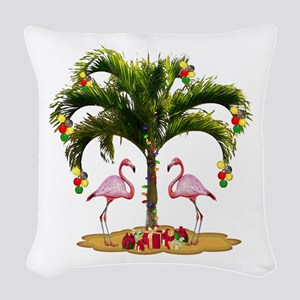 Tropical Holiday Woven Throw Pillow