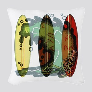 Surf's Up Woven Throw Pillow