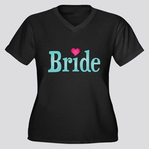 Bride Turquoise Pink Plus Size T-Shirt