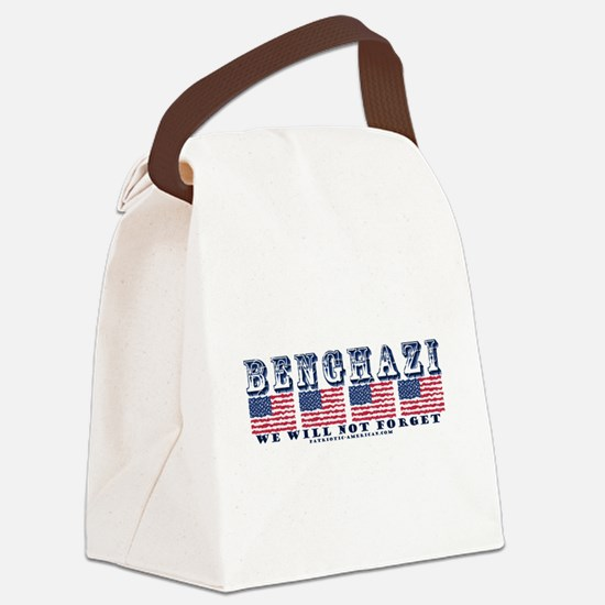 Benghazi - We will Not Forget Canvas Lunch Bag