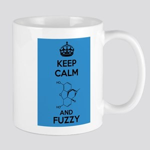 Keep Calm and Fuzzy (Morphine) Black Small Mug