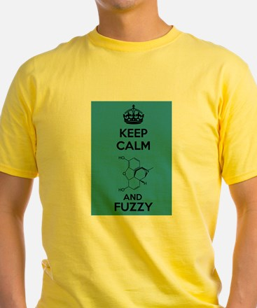 Keep Calm and Fuzzy (Morphine) Black T-Shirt