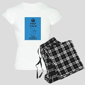 Keep Calm and Fuzzy (Morphine) Black pajamas