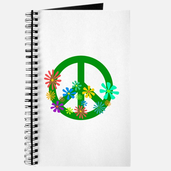 Blooming Peace Sign Journal