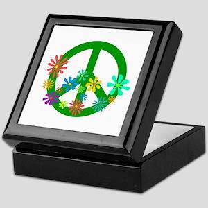 Blooming Peace Sign Keepsake Box