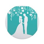 Bride and Groom silhouettes Ornament (Round)