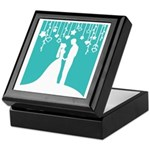 Bride and Groom silhouettes Keepsake Box