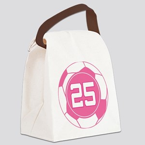 Soccer Number 25 Custom Player Canvas Lunch Bag