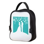 Bride and Groom silhouettes Neoprene Lunch Bag