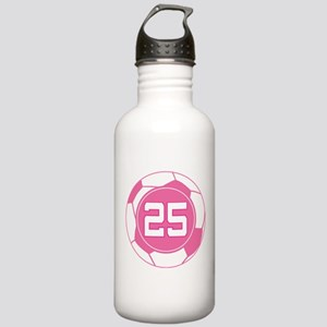 Soccer Number 25 Custom Player Stainless Water Bot