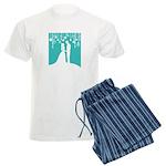 Bride and Groom silhouettes pajamas