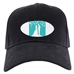 Bride and Groom silhouettes Baseball Cap