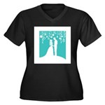Bride and Groom silhouettes Plus Size T-Shirt